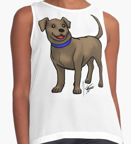 Chocolate Lab Contrast Tank