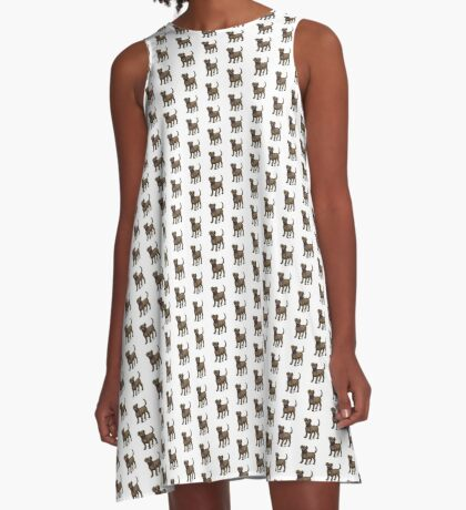 Chocolate Lab A-Line Dress