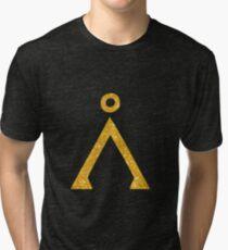 Earth symbol Golden style Tri-blend T-Shirt