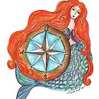 Mermaid and Compass by nelinda