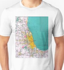 Chicago Map Unisex T-Shirt