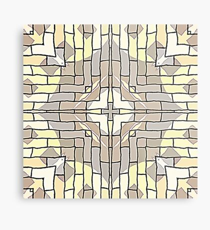 Tile Pattern by Julie Everhart Metal Print