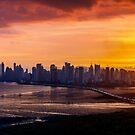 Sunset in Panama City, Panama by Bernai Velarde
