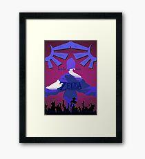 Legend of Zelda: Skyward Sword - Link - Fi - Loftwing Framed Print