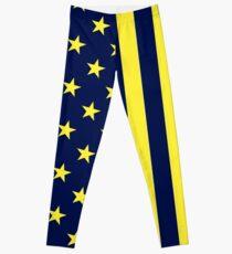 Blue&Gold American Print Leggings