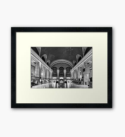 Sunday in Grand Central  Framed Print