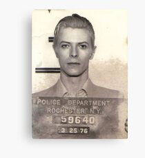 DAVID BOWIE MUGSHOT  Canvas Print