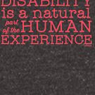 """Disability is a natural part of the human experience"" by Ollibean"