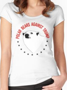 Polar Bears Against Trump Women's Fitted Scoop T-Shirt