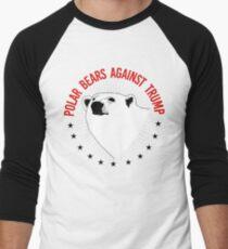Polar Bears Against Trump Men's Baseball ¾ T-Shirt