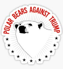 Polar Bears Against Trump Sticker