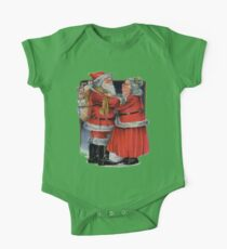 Vintage Christmas Greetings from Mr and Mrs Claus One Piece - Short Sleeve