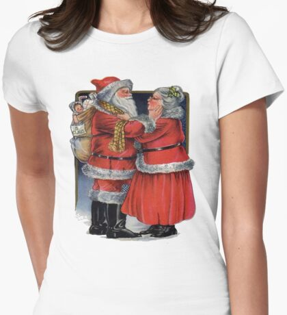 Vintage Christmas Greetings from Mr and Mrs Claus T-Shirt