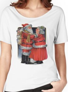 Vintage Christmas Greetings from Mr and Mrs Claus Women's Relaxed Fit T-Shirt