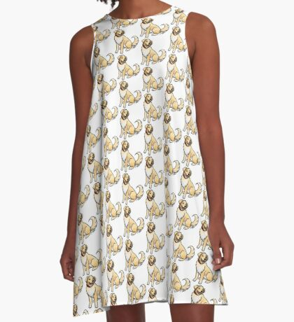 Golden Retriever A-Line Dress