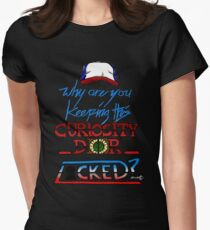 Why are you keeping this curiosity door locked? Women's Fitted T-Shirt