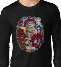 GRATEFUL CATS AND ROSES Long Sleeve T-Shirt