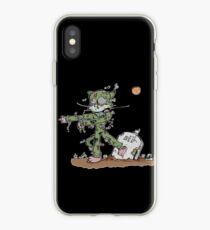 Walking cat iPhone Case