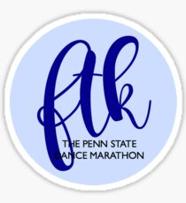 FTK Bubble OPP Navy Sticker