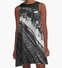 Electric A-Line Dress