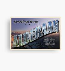 Alderaan Postcard Canvas Print
