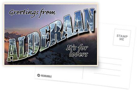 Alderaan Postkarte von cjrobbins