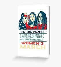 women's march 2017 t shirt Greeting Card