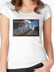Coruscant Postcard Women's Fitted Scoop T-Shirt