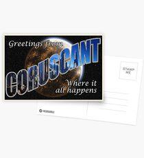 Coruscant Postcard Postcards