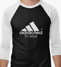 Addicted To Jesus Men's Baseball ¾ T-Shirt