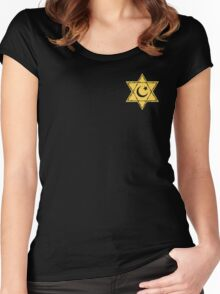Pocket Muslim Jewish Star Women's Fitted Scoop T-Shirt