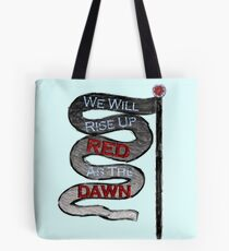 Red Queen Quote Tote Bag