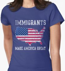 Immigrants Make America Great Women's Fitted T-Shirt