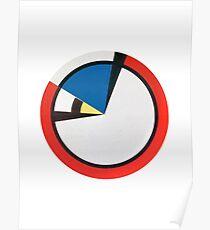Mondrian Round Poster