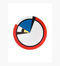 Mondrian Round Photographic Print
