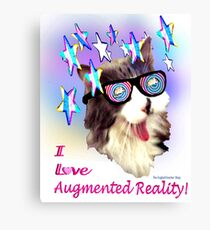 I Love Augmented Reality Canvas Print