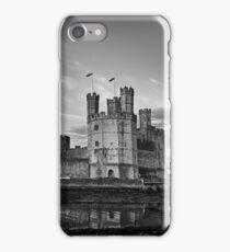 Caernarfon Castle Monochrome iPhone Case/Skin