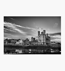 Caernarfon Castle Monochrome Photographic Print