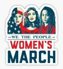 women's march t shirt Sticker