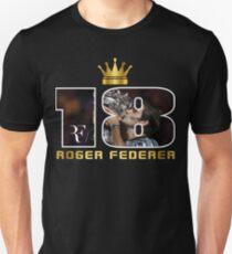 Roger Federer 18 . Unisex T-Shirt