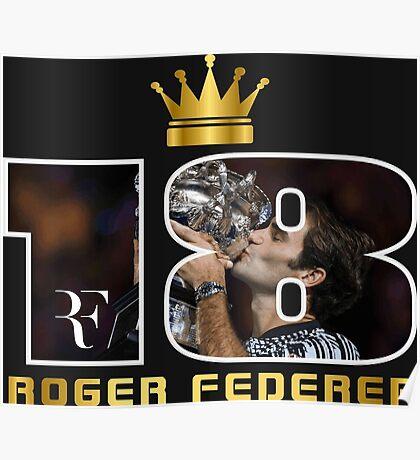 Roger Federer 18 . Poster