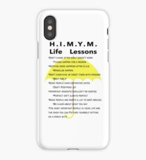 HIMYM Life Lessons (White Background) iPhone Case