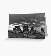 Stonehenge Monochrome Greeting Card