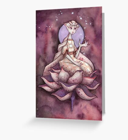 Moonchild and her Sacred Space Greeting Card