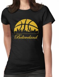 believeland Womens Fitted T-Shirt