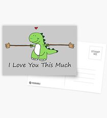 TRex Loves You This Much Postcards