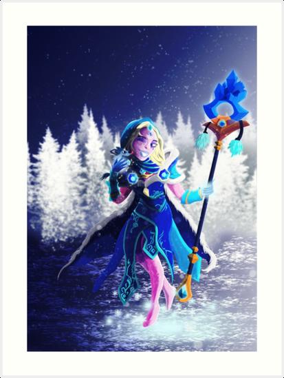 crystal maiden arcana dota2 fanart art prints by artoffd redbubble