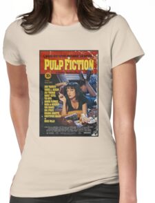 Pulp Fiction - Poster Womens Fitted T-Shirt
