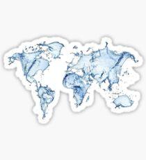 watercolor map Sticker