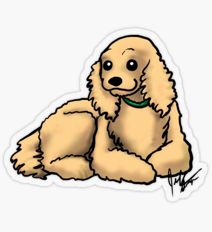 Cocker Spaniel Transparent Sticker